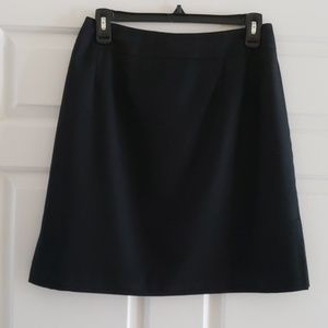 Wool black skirt